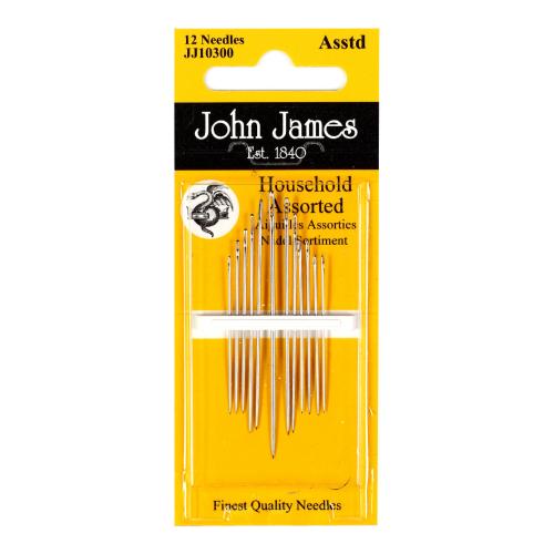 Assorterte Husholdningsnåler John James,12stk