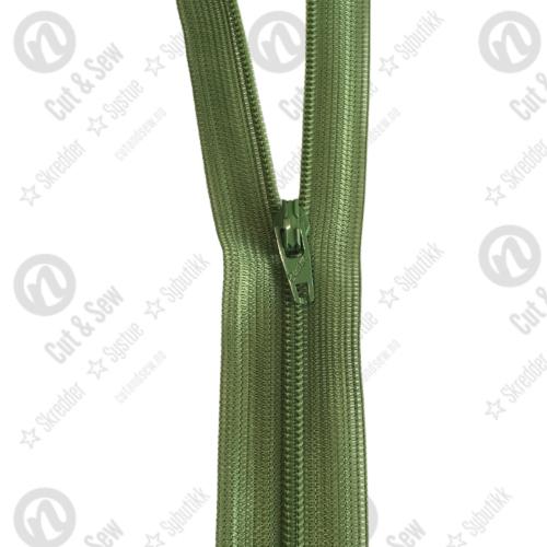 YKK Spiral Glidelås, Ikke Delbar, #1c - 528 Olivengrønn