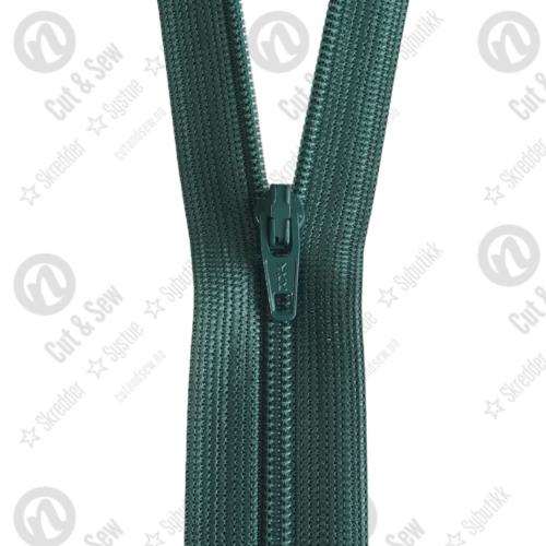 YKK Spiral Glidelås, Ikke Delbar, #3c - 530 Mørkegrønn