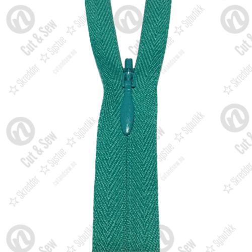 YKK Usynlig Glidelås 2cc, Ikke Delbar - 539 Smaragdgrønn