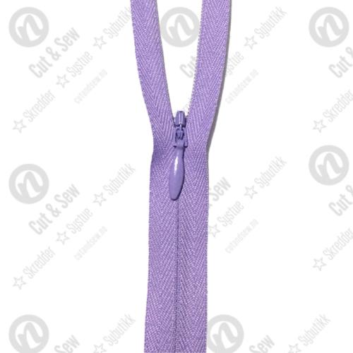 YKK Usynlig Glidelås 2cc, Ikke Delbar - 553 Lavender